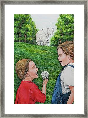 Pin The Tail On What Framed Print by Lonnie Tapia