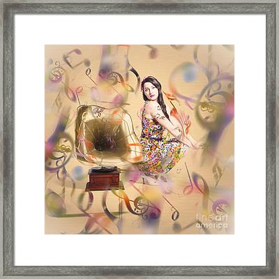 Pin-up The Sound Of Nostalgia Framed Print by Jorgo Photography - Wall Art Gallery