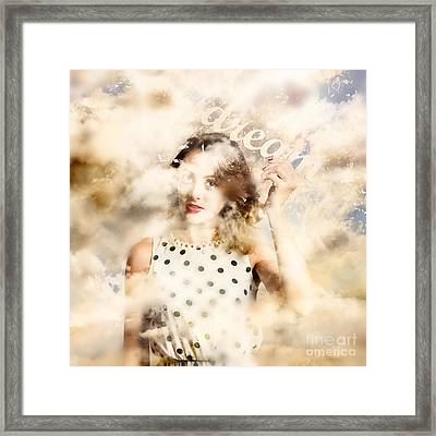 Pin-up Your Dreams Framed Print by Jorgo Photography - Wall Art Gallery