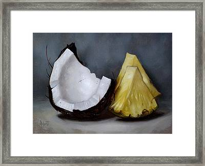 Pina Colada Night Framed Print by Clinton Hobart
