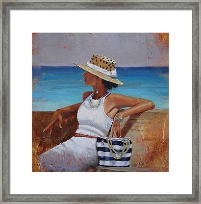 Pina Colada Please Framed Print by Laura Lee Zanghetti