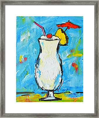 Pina Colada - Tropical Drink - Modern Art - Patio Bathroom Decor Framed Print