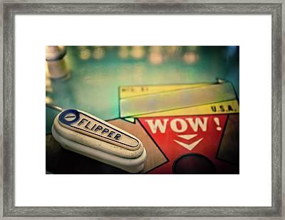 Pinball - Flipper Framed Print