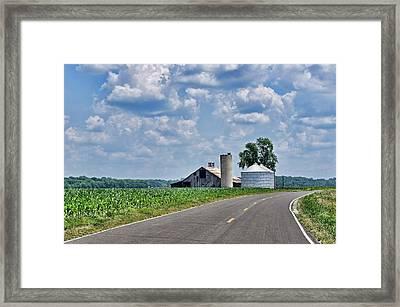 Pinckney River Bottom Barn Framed Print