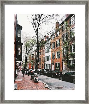 Pinckney Street In Spring Framed Print