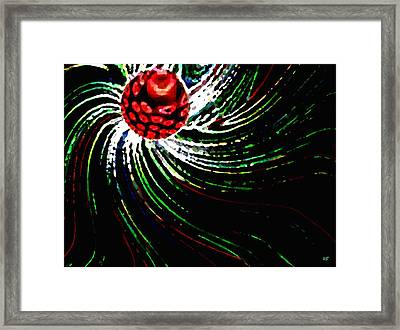 Pine Cone Abstract Framed Print
