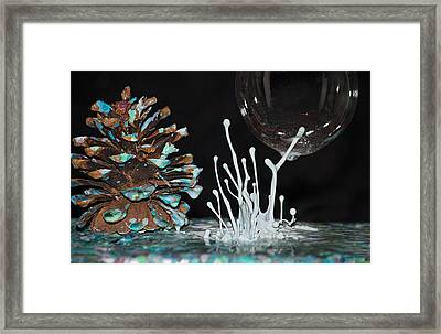 Pine Cone Circus 2 Framed Print by Becca Buecher