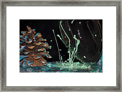 Pine Cone Circus  Framed Print by Becca Buecher