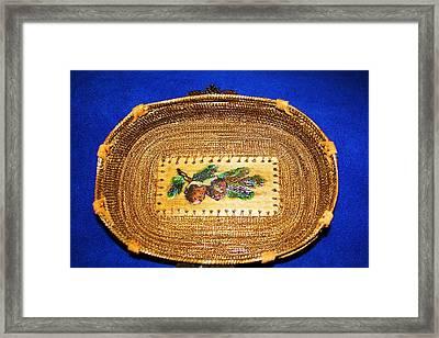 Pine Cone Pine Needle Basket Framed Print