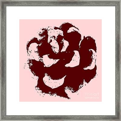 Pine Cone Rose Framed Print