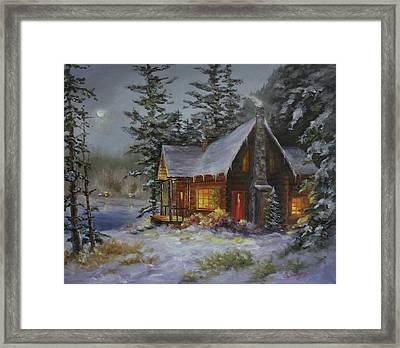 Pine Cove Cabin Framed Print