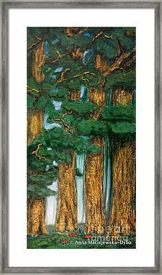 Pine Grove Framed Print by Anna Folkartanna Maciejewska-Dyba