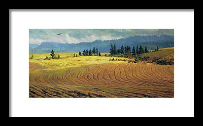 Pioneer Mountains Framed Prints