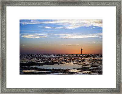 Pine Island Sunset Framed Print