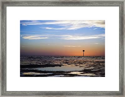 Pine Island Sunset Framed Print by Beverly Stapleton