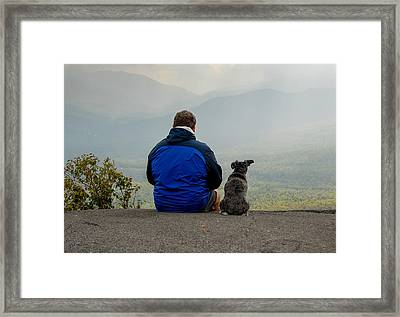 Pine Mountain Bench Framed Print