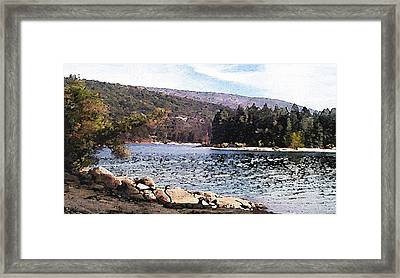Pine Point Bass Lake Larry Darnell Framed Print by Larry Darnell