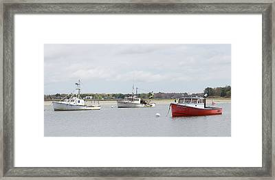 Framed Print featuring the photograph Pine Point Boats by Kirkodd Photography Of New England