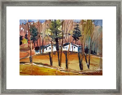 Pine Ridge Curve Matted Glassed Framed Framed Print by Charlie Spear