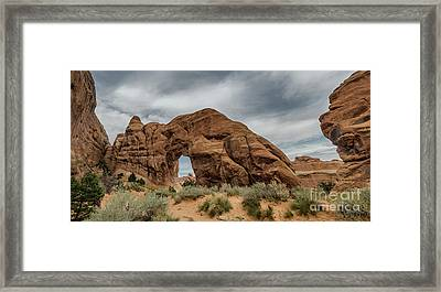 Pine Tree Arch In Arches National Monument, Utah Framed Print by Frank Bach