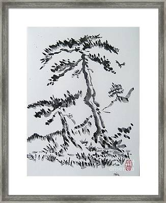 Pine Trees On Tokaido Road Framed Print