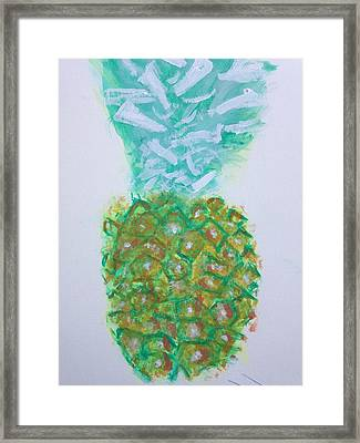 Pineal Pineapple Framed Print by Contemporary Michael Angelo