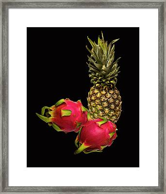 Framed Print featuring the photograph Pineapple And Dragon Fruit by David French