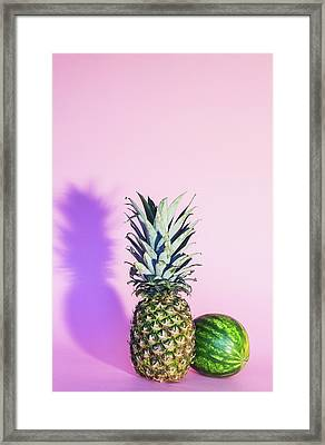 Pineapple And Watermelon Framed Print