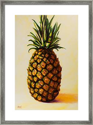 Pineapple Angel Framed Print