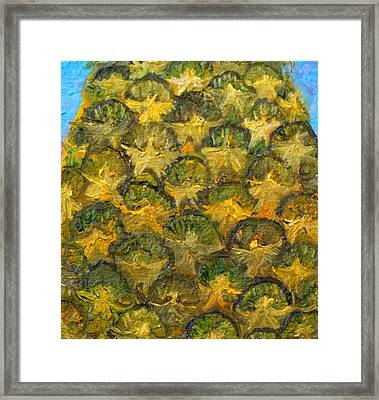 Pineapple Angels Framed Print