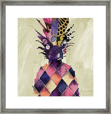 Pineapple Brocade II Framed Print by Mindy Sommers