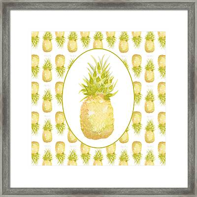 Framed Print featuring the painting Pineapple Cameo by Cindy Garber Iverson