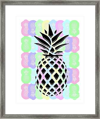 Pineapple Collage Framed Print by Liesl Marelli