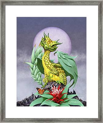 Pineapple Dragon Framed Print