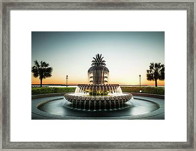 Pineapple Fountain, Charleston Framed Print by Ivo Kerssemakers