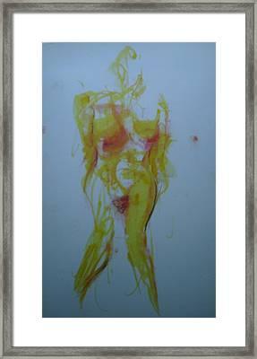 Pineapple In Process Framed Print by Dean Corbin