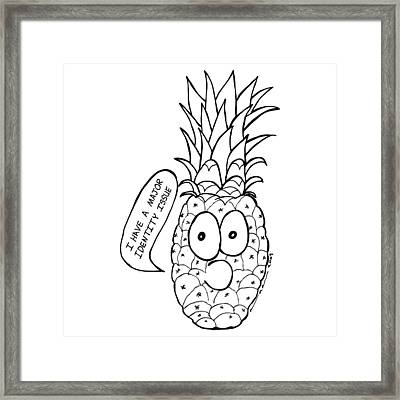 Pineapple Issue Framed Print by Karl Addison