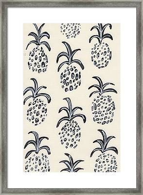 Pineapple Print Framed Print by Anne Seay