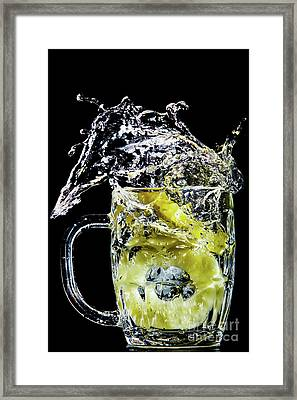 Framed Print featuring the photograph Pineapple Splash by Ray Shiu