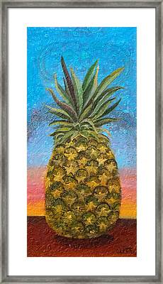 Pineapple Sunrise Or Pineapple Sunset Framed Print