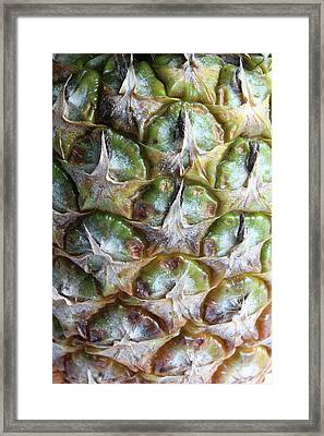 Pineapple Texture Closeup Framed Print