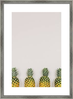 Pineapples Framed Print by Happy Home Artistry