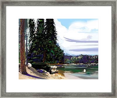 Pinecrest Lake Framed Print