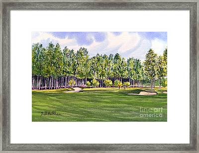 Framed Print featuring the painting Pinehurst Golf Course 17th Hole by Bill Holkham