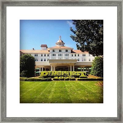 Pinehurst #golf #pinehurst8 Framed Print