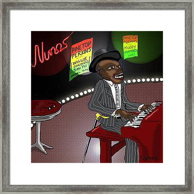 Pinetop Perkins Framed Print