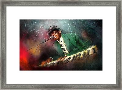 Pinetop Perkins Framed Print by Miki De Goodaboom
