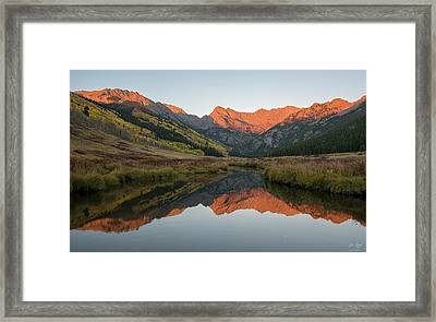 Framed Print featuring the photograph Piney River Autumn Sunrise by Aaron Spong