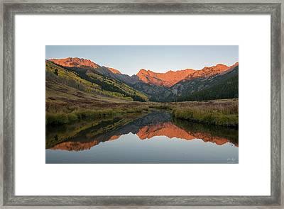Piney River Autumn Sunrise Framed Print