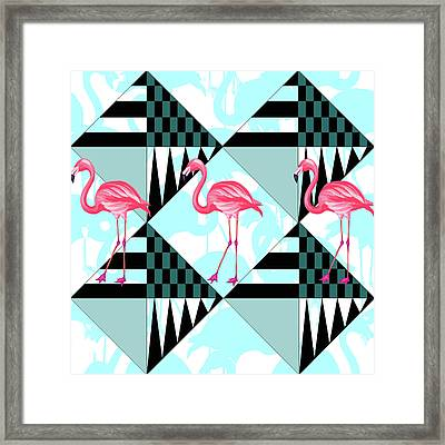 Ping Flamingo Framed Print by Mark Ashkenazi